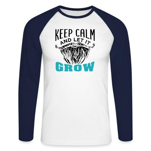 Beard Keep Calm And Let It Grow - Männer Baseballshirt langarm