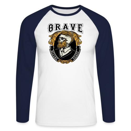 Grave Before Shave Bearded - Männer Baseballshirt langarm