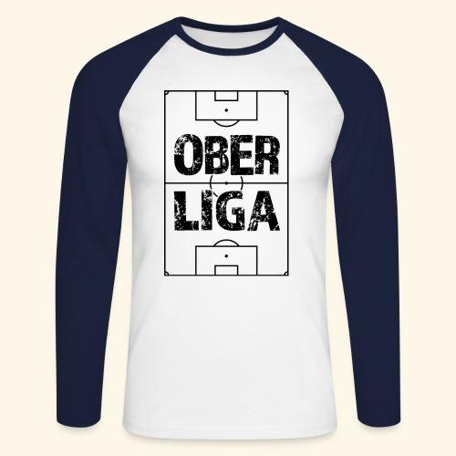 OBERLIGA im Fußballfeld - Männer Baseballshirt langarm