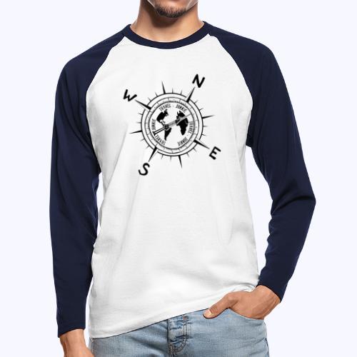 traveljunkie black - Männer Baseballshirt langarm