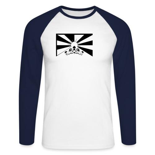 flag black - Männer Baseballshirt langarm