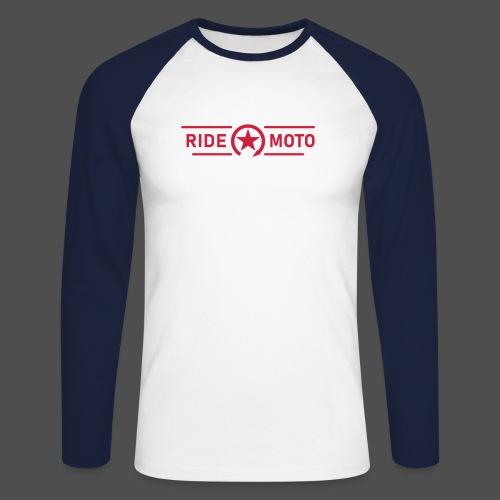 ride moto killschalter Logo - Männer Baseballshirt langarm