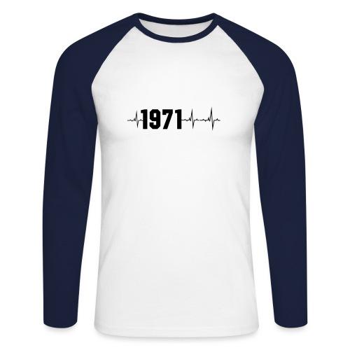 1971 Herzschlag - Männer Baseballshirt langarm