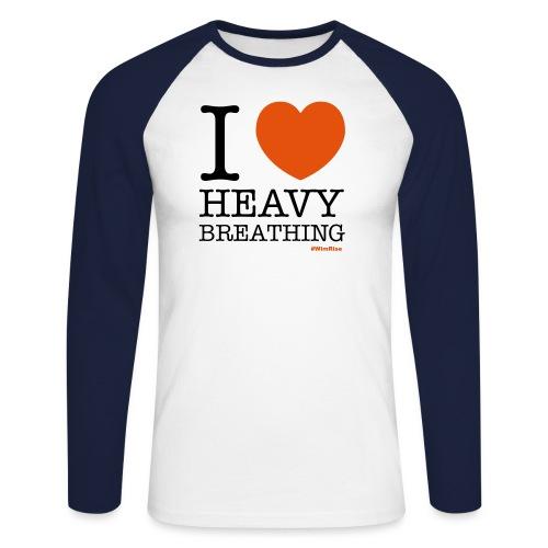 I ♥ Heavy Breathing - Men's Long Sleeve Baseball T-Shirt