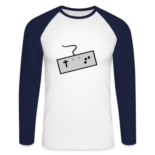 Baseballshirt der Theophil-Nerd - Männer Baseballshirt langarm