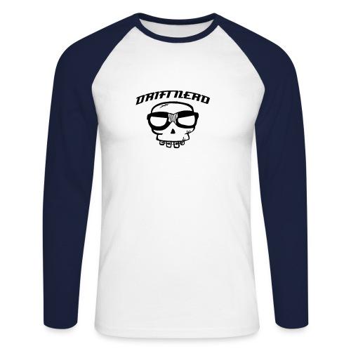 sticker driftnerd curved - Langermet baseball-skjorte for menn