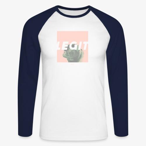 LEGIT #03 - Männer Baseballshirt langarm