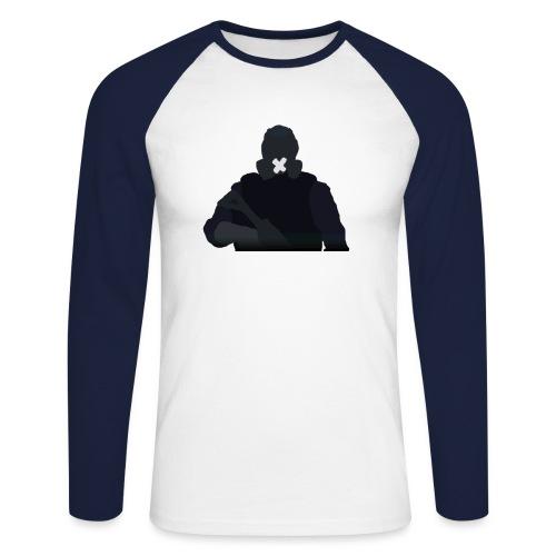 Mute - Koszulka męska bejsbolowa z długim rękawem