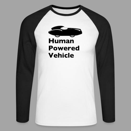 Quattrovelo Human Powered Vehicle black - Miesten pitkähihainen baseballpaita