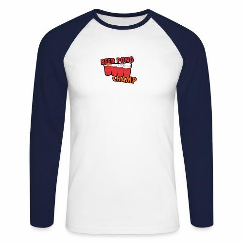 Beer Pong Champion - Männer Baseballshirt langarm