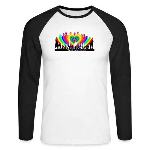 rainbow is my favorite color - Männer Baseballshirt langarm