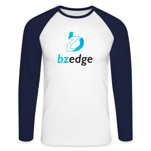 BZEdge Cutting Edge Crypto - Men's Long Sleeve Baseball T-Shirt