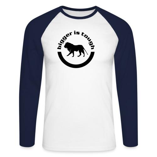 logo bigger - Männer Baseballshirt langarm