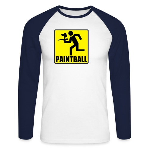 running man - Männer Baseballshirt langarm
