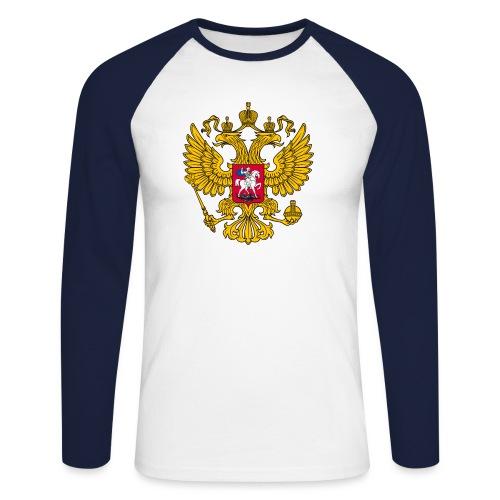 Russland-Wappen / Герб Российской Федерации - Männer Baseballshirt langarm