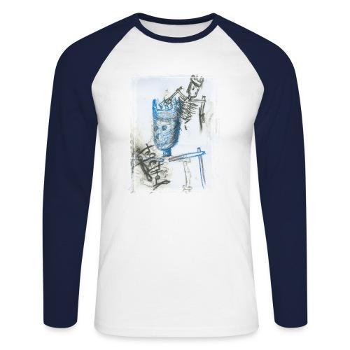 Blue King - Männer Baseballshirt langarm