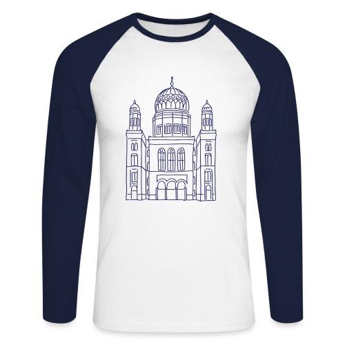 Neue Synagoge Berlin - Männer Baseballshirt langarm