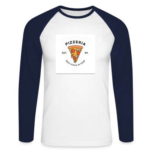 T-shirt pizza - T-shirt baseball manches longues Homme
