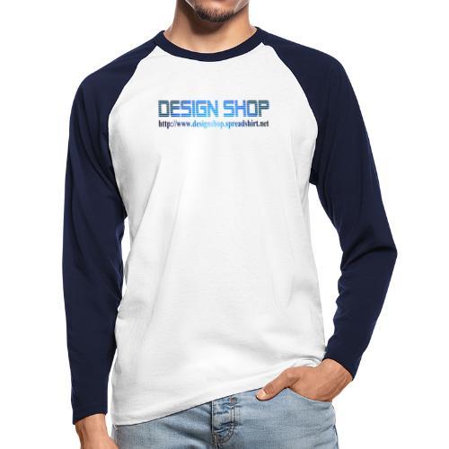 design shop logo stor 1 - Langermet baseball-skjorte for menn