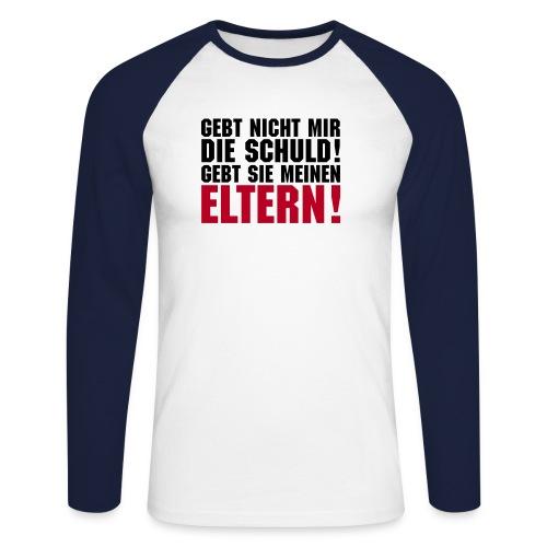 eltern1a - Männer Baseballshirt langarm