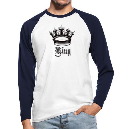 king - Raglán manga larga hombre