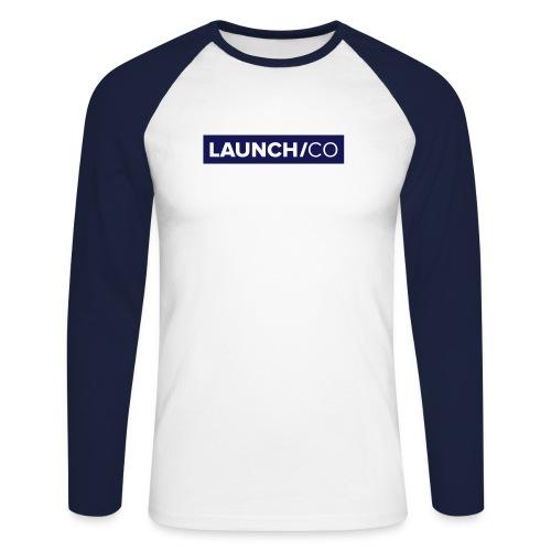 launchco logo - Männer Baseballshirt langarm