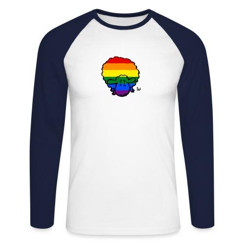 Rainbow Pride Sheep - Langærmet herre-baseballshirt