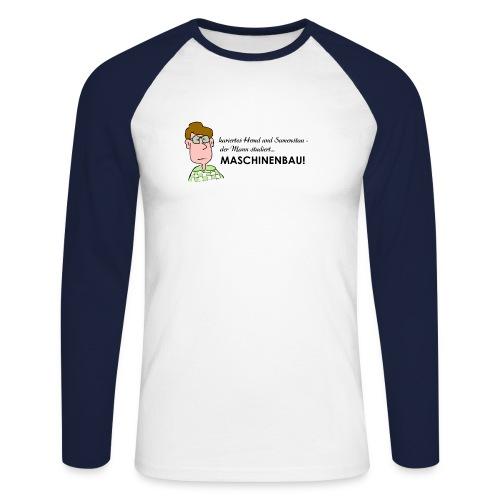 Maschinenbau - Männer Baseballshirt langarm