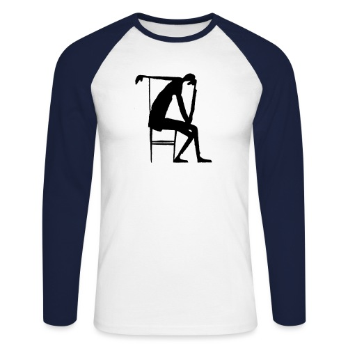 Franz Kafka - Der Denker - Männer Baseballshirt langarm