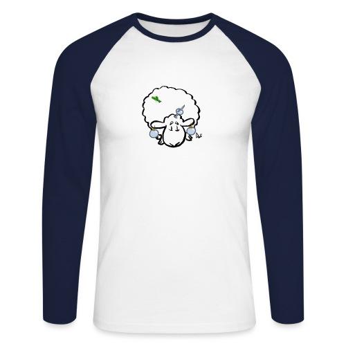 Owca choinkowa - Koszulka męska bejsbolowa z długim rękawem