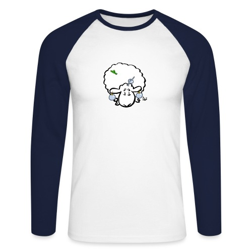 Weihnachtsbaumschaf - Männer Baseballshirt langarm