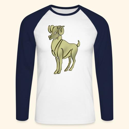 Aries the Ram Sign Birthday - Men's Long Sleeve Baseball T-Shirt