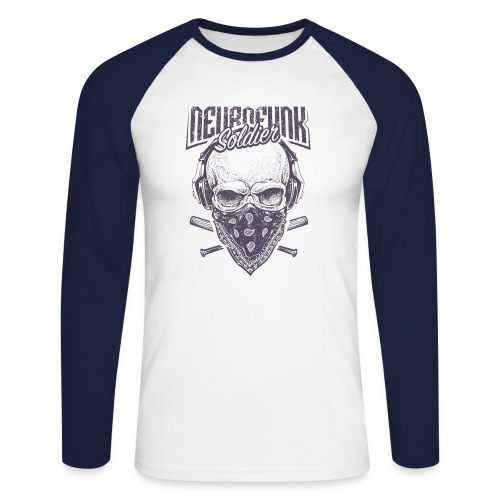 neurofunk soldier - T-shirt baseball manches longues Homme