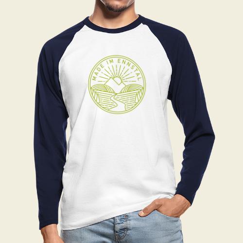 Made im Ennstal, grün - Männer Baseballshirt langarm