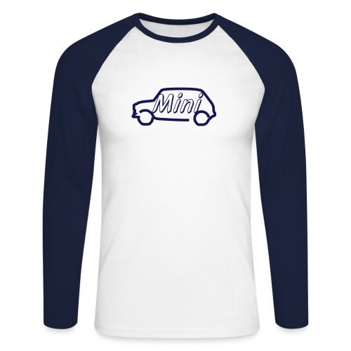 mini outline single colour - Men's Long Sleeve Baseball T-Shirt