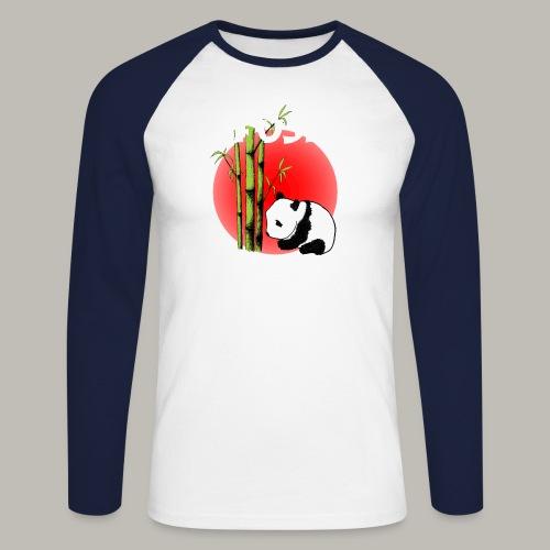 Fuji panda - T-shirt baseball manches longues Homme