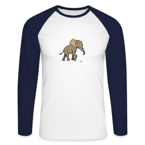 African Elephant - Men's Long Sleeve Baseball T-Shirt
