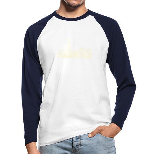 Helsinki railway station pattern trasparent beige - Men's Long Sleeve Baseball T-Shirt