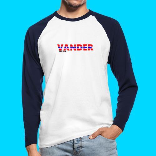 Vander in Red, white and blue. - Men's Long Sleeve Baseball T-Shirt