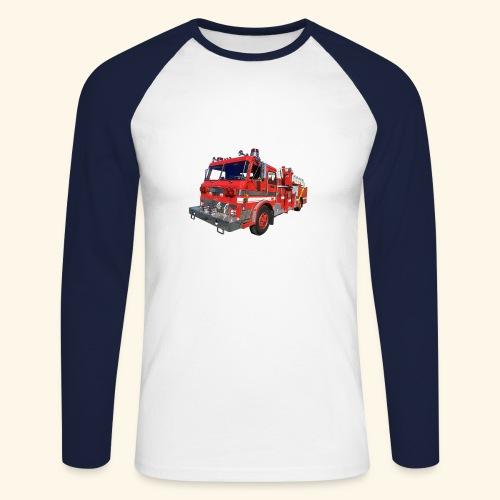 Red Fire Engine - Men's Long Sleeve Baseball T-Shirt