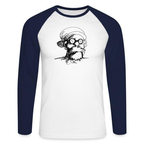 Santa Sketch - Men's Long Sleeve Baseball T-Shirt