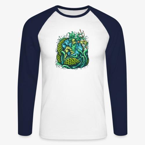 Gott des Meeres - Männer Baseballshirt langarm