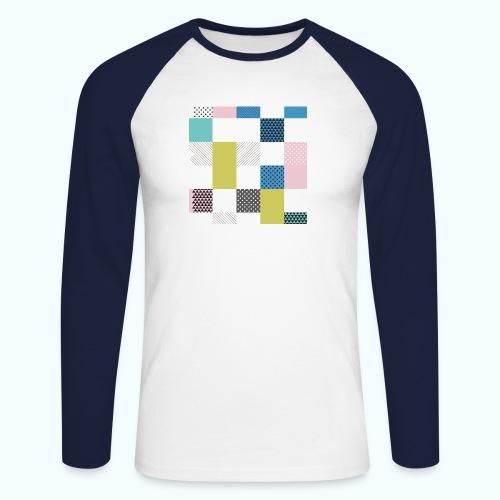 Abstract art squares - Men's Long Sleeve Baseball T-Shirt