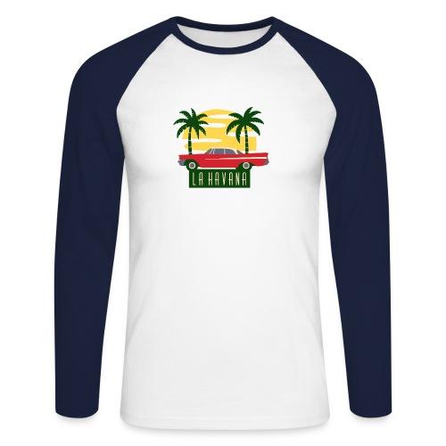 La Havana Vintage - Männer Baseballshirt langarm
