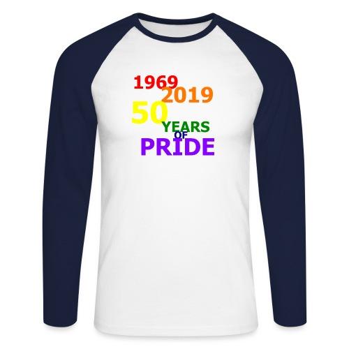 50 Jahre CSD - Männer Baseballshirt langarm