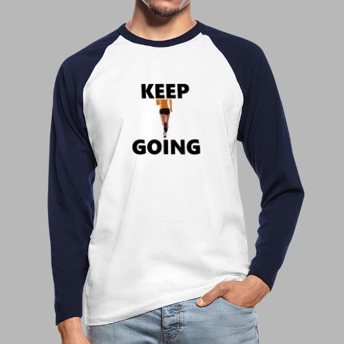 Keep going - Männer Baseballshirt langarm