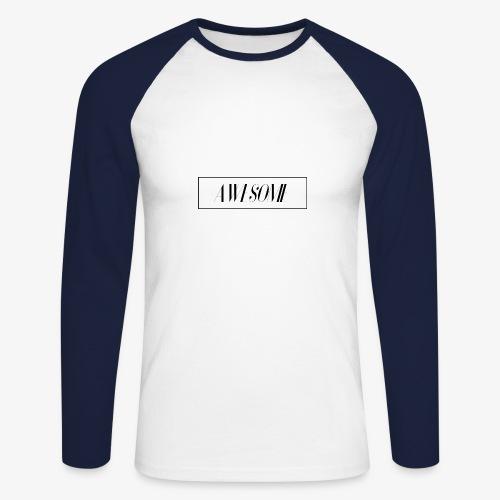 AWESOME - Männer Baseballshirt langarm