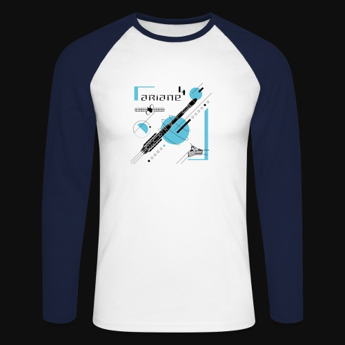 ARIANE 4 - how it works - Men's Long Sleeve Baseball T-Shirt