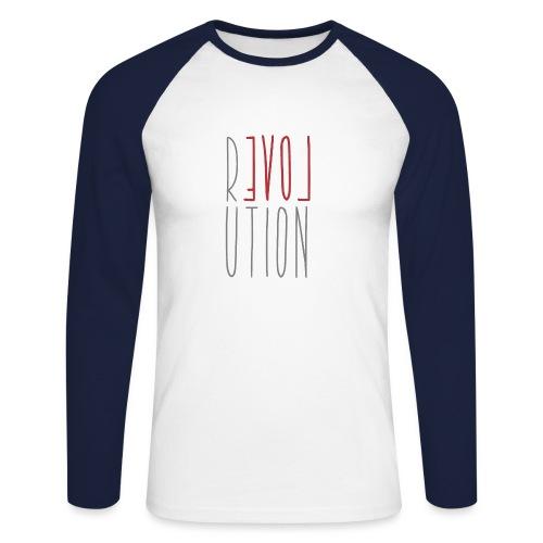 Love Peace Revolution - Liebe Frieden Statement - Männer Baseballshirt langarm