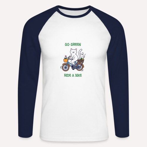 Go Green, Apparel all organic - Men's Long Sleeve Baseball T-Shirt